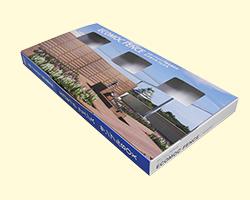 箱のデザインが棚へカタログのように収納できるので、客先にも好評です。